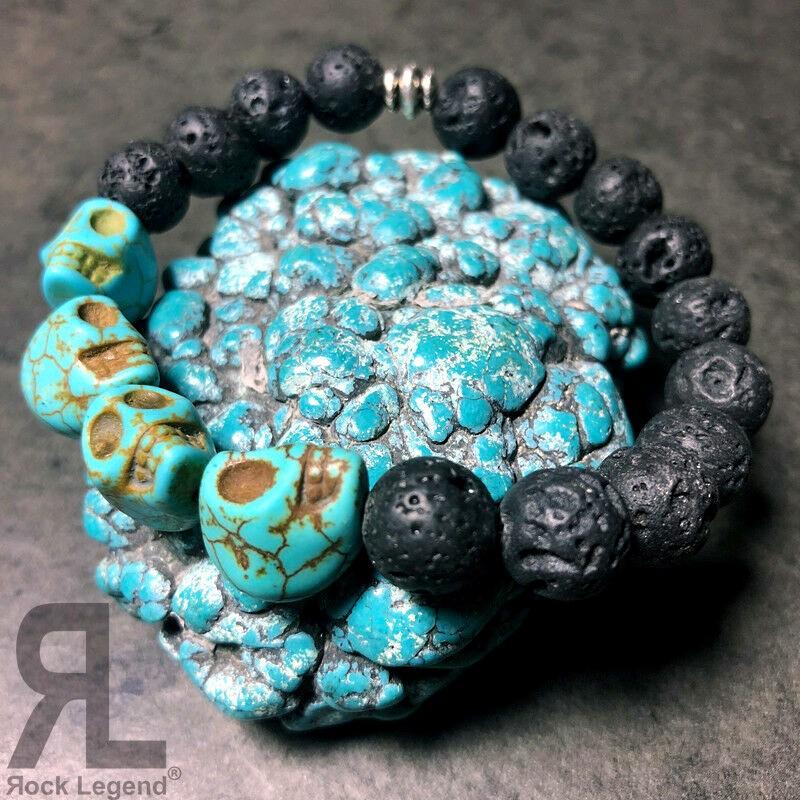 Braccialetto Blue Skull - Equilibrio