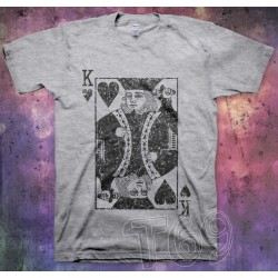 T-shirt King of Hearts bw